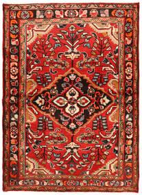 Hosseinabad Teppe 112X157 Ekte Orientalsk Håndknyttet Mørk Rød/Rust (Ull, Persia/Iran)