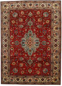 Tabriz Teppe 217X302 Ekte Orientalsk Håndknyttet Mørk Brun/Mørk Rød (Ull, Persia/Iran)