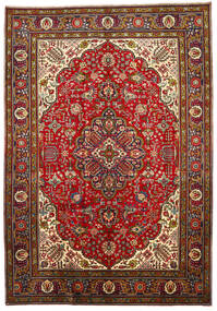 Tabriz Teppe 205X296 Ekte Orientalsk Håndknyttet Mørk Rød/Rust (Ull, Persia/Iran)