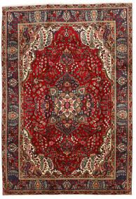 Tabriz Teppe 202X295 Ekte Orientalsk Håndknyttet Mørk Rød/Svart (Ull, Persia/Iran)