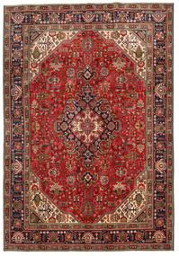 Tabriz Teppe 198X287 Ekte Orientalsk Håndknyttet Mørk Brun/Mørk Rød (Ull, Persia/Iran)