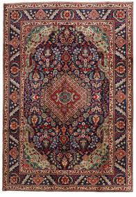 Tabriz Teppe 201X295 Ekte Orientalsk Håndknyttet Mørk Rød/Svart (Ull, Persia/Iran)