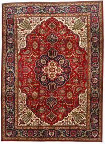 Tabriz Teppe 211X289 Ekte Orientalsk Håndknyttet Mørk Rød/Mørk Brun (Ull, Persia/Iran)