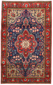 Tabriz Teppe 100X165 Ekte Orientalsk Håndknyttet Rust/Mørk Grå (Ull, Persia/Iran)
