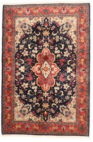 Yazd Teppe 120X182 Ekte Orientalsk Håndknyttet Svart/Mørk Rød (Ull, Persia/Iran)