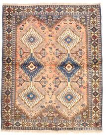 Yalameh Teppe 115X143 Ekte Orientalsk Håndknyttet Mørk Grå/Mørk Rød (Ull, Persia/Iran)