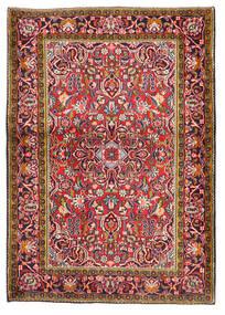 Keshan Teppe 103X147 Ekte Orientalsk Håndknyttet Mørk Rød/Mørk Lilla (Ull, Persia/Iran)