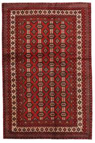 Mashad Teppe 130X200 Ekte Orientalsk Håndknyttet Mørk Rød/Mørk Brun (Ull, Persia/Iran)