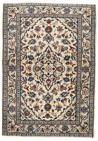 Keshan Teppe 103X146 Ekte Orientalsk Håndknyttet Beige/Svart/Lys Grå (Ull, Persia/Iran)