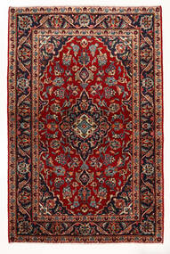 Keshan Teppe 97X147 Ekte Orientalsk Håndknyttet Mørk Rød/Beige (Ull, Persia/Iran)
