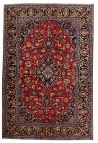Keshan Teppe 140X210 Ekte Orientalsk Håndknyttet Mørk Rød (Ull, Persia/Iran)