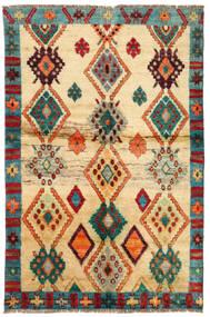 Moroccan Berber - Afghanistan Teppe 114X183 Ekte Moderne Håndknyttet Mørk Beige/Beige (Ull, Afghanistan)