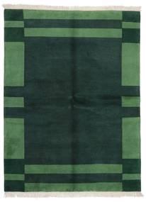 Gabbeh Indisk Teppe 171X226 Ekte Moderne Håndknyttet Mørk Turkis/Mørk Grønn (Ull, India)