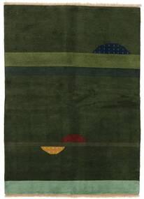 Gabbeh Indisk Teppe 145X199 Ekte Moderne Håndknyttet Mørk Grønn (Ull, India)