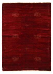 Huttan Teppe 142X195 Ekte Orientalsk Håndknyttet Mørk Rød/Mørk Brun (Ull, Pakistan)