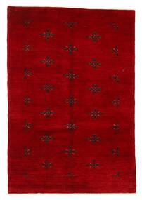 Huttan Teppe 125X183 Ekte Orientalsk Håndknyttet Mørk Rød (Ull, Pakistan)