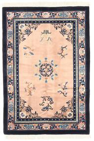 Kina Antikkfinish Teppe 122X183 Ekte Orientalsk Håndknyttet Mørk Grå/Lyserosa (Ull, Kina)