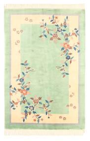 Kina Antikkfinish Teppe 120X180 Ekte Orientalsk Håndknyttet Pastell Grønn/Gul (Ull, Kina)