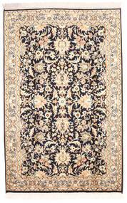 Kashmir Ren Silke Teppe 78X123 Ekte Orientalsk Håndknyttet Beige/Mørk Lilla (Silke, India)
