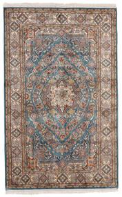 Kashmir Ren Silke Teppe 97X155 Ekte Orientalsk Håndknyttet Lys Grå/Beige (Silke, India)