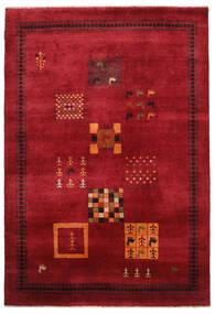 Gabbeh Loribaft Teppe 155X225 Ekte Moderne Håndknyttet Mørk Rød/Svart (Ull, India)