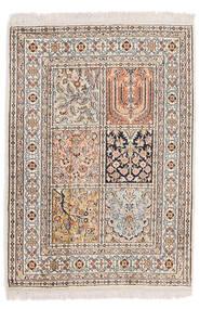 Kashmir Ren Silke Teppe 64X90 Ekte Orientalsk Håndknyttet Lys Grå/Beige (Silke, India)