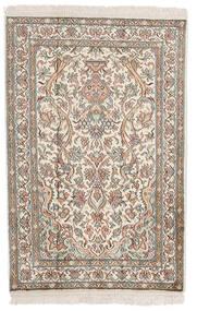 Kashmir Ren Silke Teppe 62X94 Ekte Orientalsk Håndknyttet Lys Grå/Beige (Silke, India)
