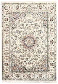 Nain Indisk Teppe 170X242 Ekte Orientalsk Håndknyttet Beige/Lys Grå ( India)