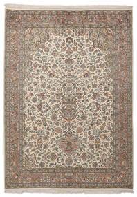 Kashmir Ren Silke Teppe 130X183 Ekte Orientalsk Håndknyttet Mørk Brun (Silke, India)