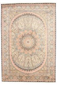 Kashmir Ren Silke Teppe 171X245 Ekte Orientalsk Håndknyttet Gul/Lyserosa (Silke, India)
