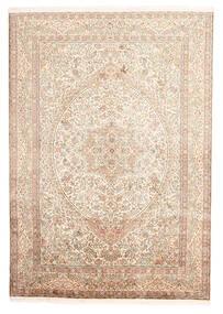 Kashmir Ren Silke Teppe 170X246 Ekte Orientalsk Håndknyttet Beige/Lyserosa (Silke, India)