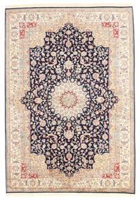Kashmir Ren Silke Teppe 173X247 Ekte Orientalsk Håndknyttet Gul/Mørk Grå (Silke, India)