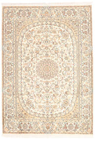Kashmir Ren Silke Teppe 128X181 Ekte Orientalsk Håndknyttet Beige (Silke, India)