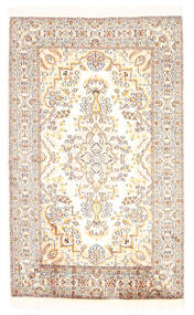 Kashmir Ren Silke Teppe 79X127 Ekte Orientalsk Håndknyttet Hvit/Creme/Lys Grå/Beige (Silke, India)