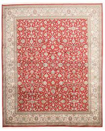 Kashmir Ren Silke Teppe 202X244 Ekte Orientalsk Håndknyttet Lys Grå/Rust (Silke, India)
