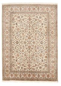 Kashmir Ren Silke Teppe 158X219 Ekte Orientalsk Håndknyttet Brun/Lysbrun (Silke, India)