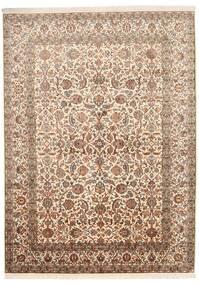 Kashmir Ren Silke Teppe 157X216 Ekte Orientalsk Håndknyttet Brun/Beige (Silke, India)