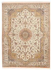 Kashmir Ren Silke Teppe 157X211 Ekte Orientalsk Håndknyttet Brun/Beige (Silke, India)