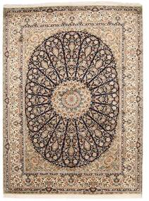 Kashmir Ren Silke Teppe 159X218 Ekte Orientalsk Håndknyttet Lys Grå/Brun (Silke, India)
