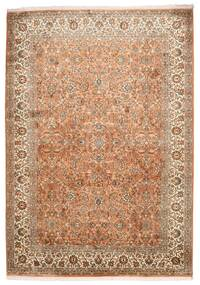 Kashmir Ren Silke Teppe 173X244 Ekte Orientalsk Håndknyttet Brun/Lysbrun (Silke, India)