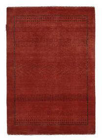 Gabbeh Loribaft Teppe 89X127 Ekte Moderne Håndknyttet Mørk Rød/Svart (Ull, India)