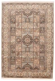 Kashmir Ren Silke Teppe 174X248 Ekte Orientalsk Håndknyttet Brun/Mørk Brun (Silke, India)