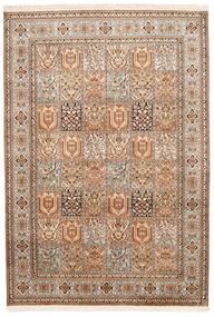 Kashmir Ren Silke Teppe 172X248 Ekte Orientalsk Håndknyttet Brun/Mørk Brun (Silke, India)
