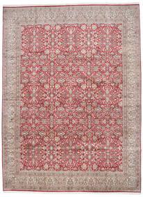 Kashmir Ren Silke Teppe 296X403 Ekte Orientalsk Håndknyttet Lys Grå/Rust Stort (Silke, India)