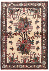 Afshar/Sirjan Teppe 102X144 Ekte Orientalsk Håndknyttet Beige/Svart (Ull, Persia/Iran)