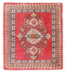 Kashmar Teppe 75X84 Ekte Orientalsk Håndknyttet Mørk Rød/Rød (Ull, Persia/Iran)