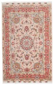 Tabriz 60 Raj Silkerenning Teppe 153X240 Ekte Orientalsk Håndknyttet Mørk Rød/Mørk Brun (Ull/Silke, Persia/Iran)
