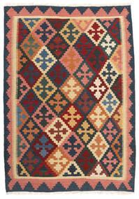 Kelim Teppe 103X150 Ekte Orientalsk Håndvevd Mørk Grå/Mørk Rød (Ull, Persia/Iran)