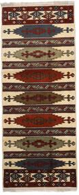 Turkaman Teppe 87X210 Ekte Orientalsk Håndknyttet Teppeløpere Mørk Brun/Lysbrun (Ull, Persia/Iran)