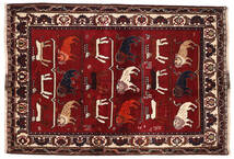 Ghashghai Teppe 127X186 Ekte Orientalsk Håndknyttet Mørk Rød/Mørk Brun (Ull, Persia/Iran)